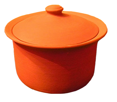 Clay Pot | 5.75 Qt | Large | MEC Handmade Clay Cookware