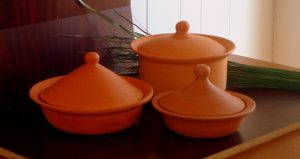 Healthiest Cookware Set made from 100% non-toxic pure clay by Miriams Earthen Cookware