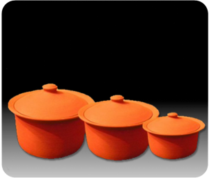 Clay Pot Cooking Set made from all-natural pure clay by Miriams Earthen Cookware.