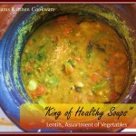 King of Healthy Soups – Lentils with Vegetables Soup