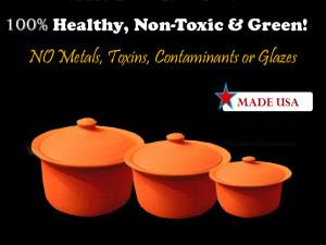100% Healthy, Nontoxic, Green Cookware & Bakeware