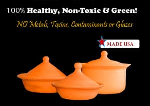 Best Pots and Pans made from Pure-Clay: Handmade in the USA - 100% Lead and Cadmium Free - by Miriams Earthen Cookware