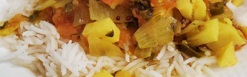Taro Root soup cooked in MEC